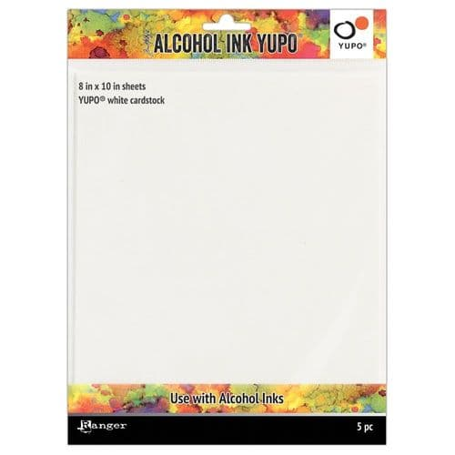 Alcohol Ink Yupo Paper White 8x10 pk 5